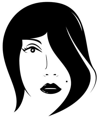 sch�nes frauengesicht: sch�ne Frau Gesicht - Beauty-Salon Symbol Illustration