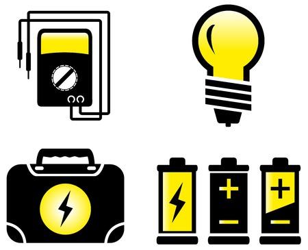 contador electrico: conjunto aislado de objetos eléctricos moderna brillante