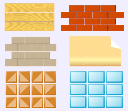 set icon finishing materials for home renovation Vector