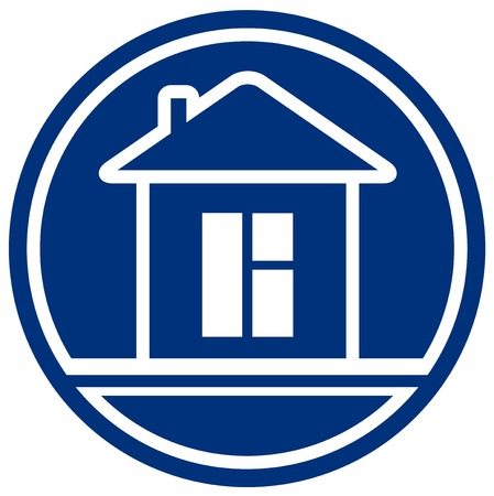 icon with house and window - interior symbol Vector