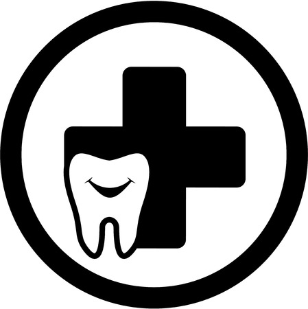 round dental medicine icon with smile tooth Vector