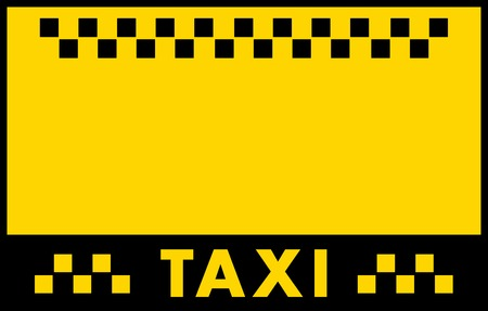 public private: yellow advertise background for taxi service card