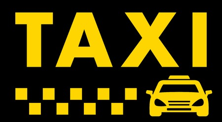 black taxi background with car and cab symbol Vector