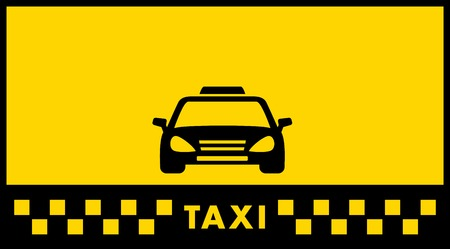 yellow taxi background with car silhouette and place for text Vector