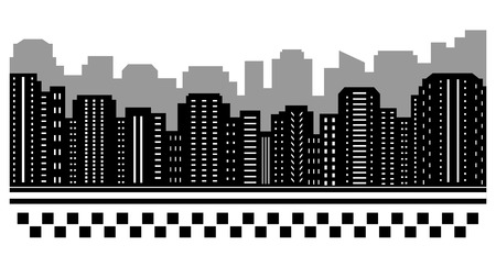 black urban background for taxi or transport services