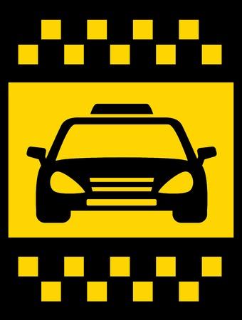 black cab: cab transport background with black taxi car Illustration