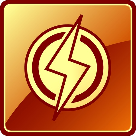 activacion: amarilla icono de energ�a aislado. s�mbolo moderno electricista