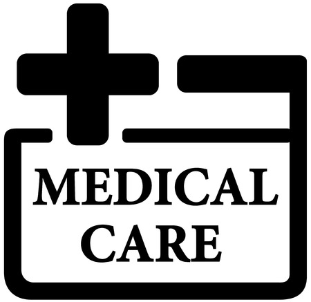 medical preparation: isolated black medical care icon - first aid kit sign
