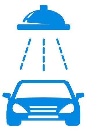 automatic doors: isolated blue car wash icon on white background Illustration