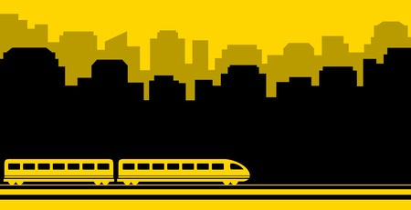 railway yellow transport background for subway or rail road transportation Vector