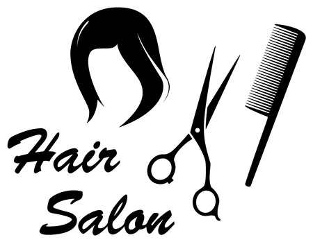 hair dresser: hair care isolated icon with woman head silhouette