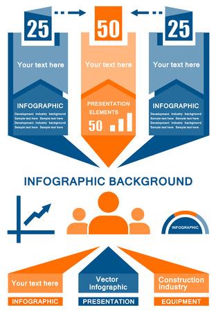 cronologia: amarillo y azul de negocios de vectores de fondo infografía industrial