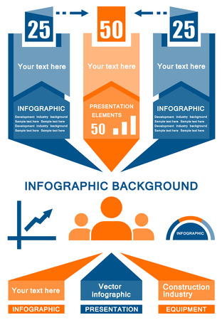 chronology: yellow and blue vector business industrial infographic background