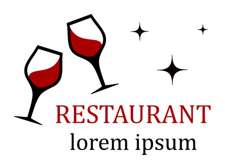 clink: restaurant icon with clink wine glasses silhouette