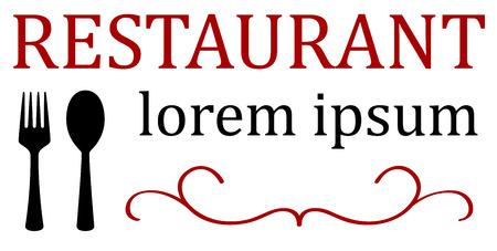 steward: restaurant menu background with spoon and fork