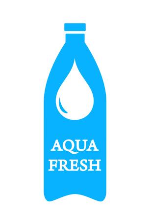 kunststoff rohr: isoliert frische aqua icon mit Flasche und Wassertropfen