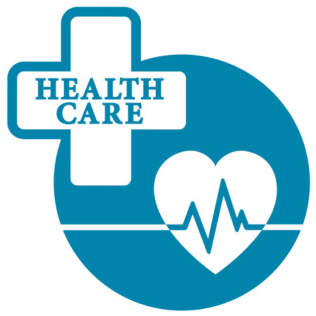 medical preparation: medical icon with heart beat for cardiogram symbol
