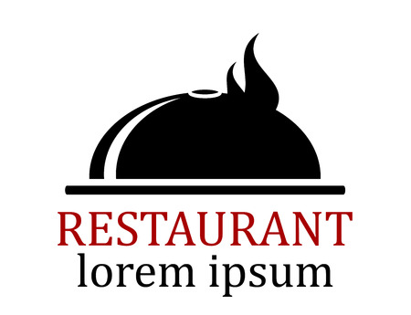 lunchroom: black dish icon for restaurant menu symbol
