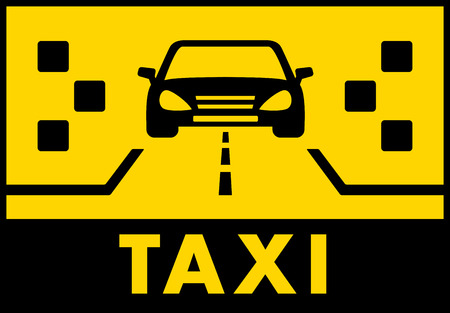 yelow: yelow taxi background with cab on road silhouette