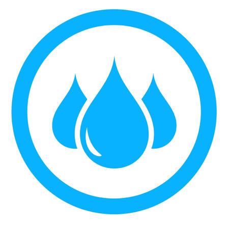 aqua icon: round aqua icon with blue drop silhouette