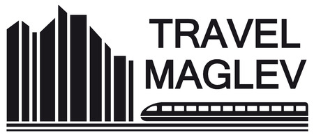 archtecture: travel maglev symbol for rail way industry