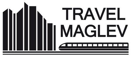 rail travel: travel maglev symbol for rail way industry