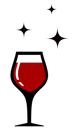 wine card: style wine glass icon for restaurant wine card