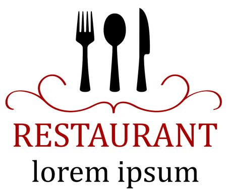 menu icon: art restaurant icon for food menu background
