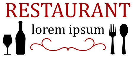 style menu icon for restaurant or eatery Illustration