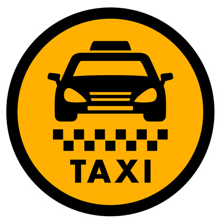 jorney: cab yellow icon for taxi drive services