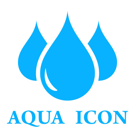 aqua icon: blue three pure drop silhouette for aqua icon
