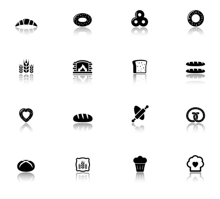 stuffing: isolated objects with bakery and bread icons set Illustration