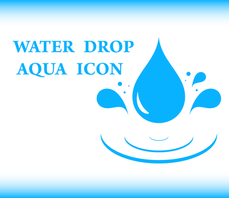 aqua: blue background water with drop aqua icon