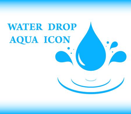 aqua icon: blue background water with drop aqua icon