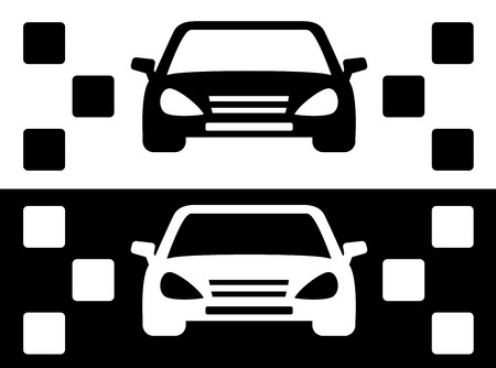 taxi: set of two taxi cars simple icon