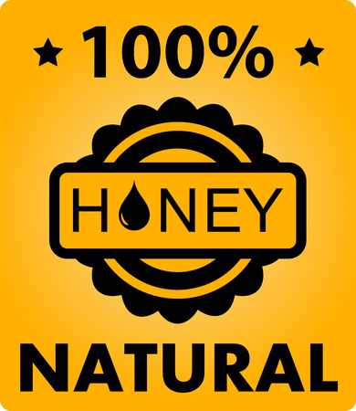 mead: yellow natural honey art background with mead bdrop silhouette Illustration