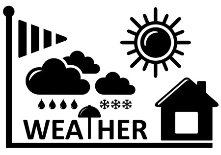 meteorology: black weather concept symbol for meteorology industry Illustration