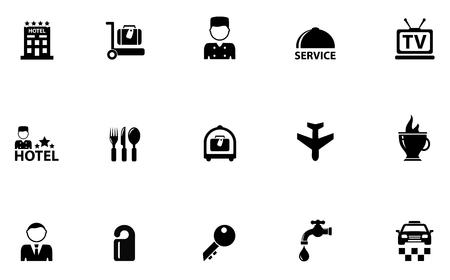 keycard: isolated hotel concept icons set on white background