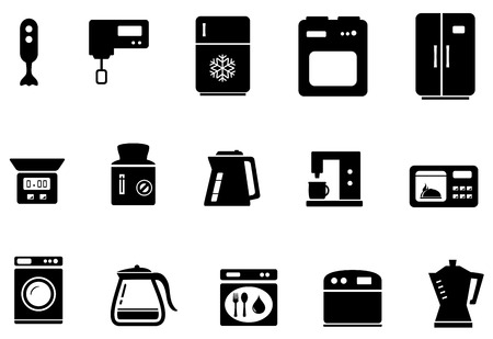 Kitchen Ware Quality Icon Set With Red Tape Clipart Royalty-free ...