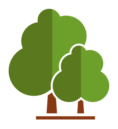 summer tree icon for parkland or garden symbol 向量圖像