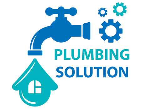 plumbing solution symbol Illustration