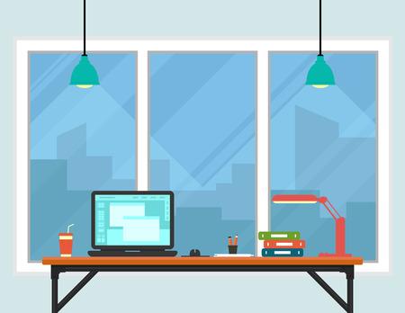 interior room: business workplace room interior