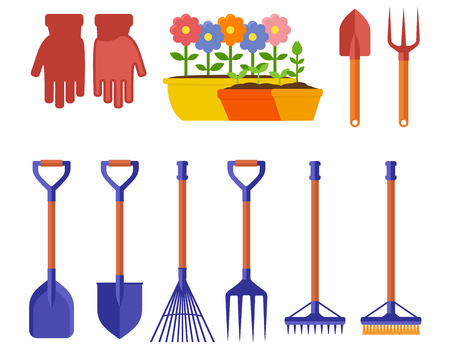 garden isolated equipment Illustration