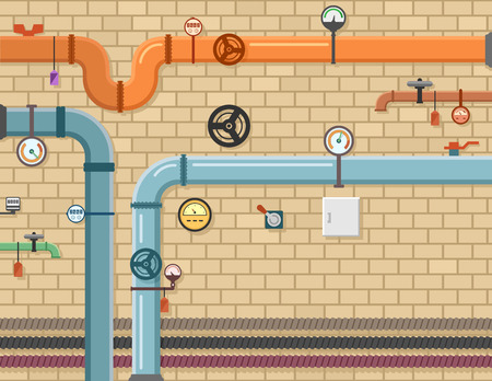 pipeline plumbing background Illustration