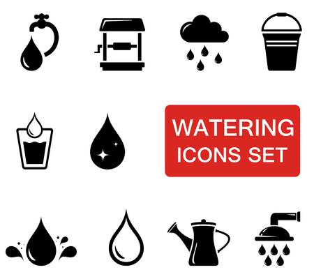 reflection in mirror: water icon set Illustration