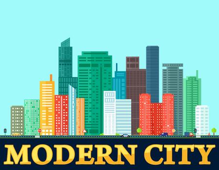 modern colorful city background 矢量图像