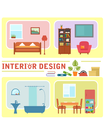 Concept interior design illustration