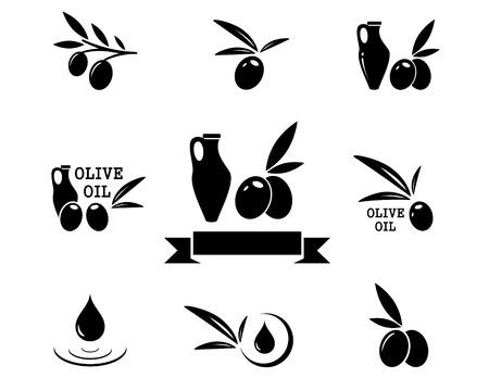 concept olive product symbol set