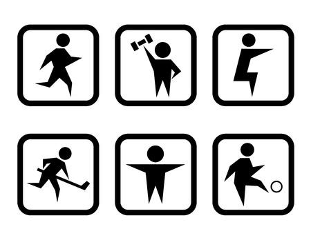 set of sport concept symbols 矢量图像