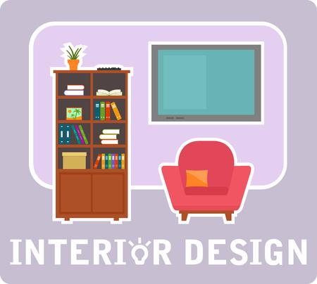 interior design concept symbol